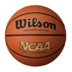 """NCAA Final Four Edition Basketball High Definition Pebble - Improved Grip Deep Channel Construction Premium Carcass Construction – Excellent rebound and durability Official Size Basketball - 29.5"""" Proper Inflation Level: 7 -9 PSI"""