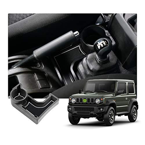 SKTU JIMNY JB64 JB74 AT Auto scatola dedicata per bracciolo del pallet box accessori con tappetino in gomma (bianco)