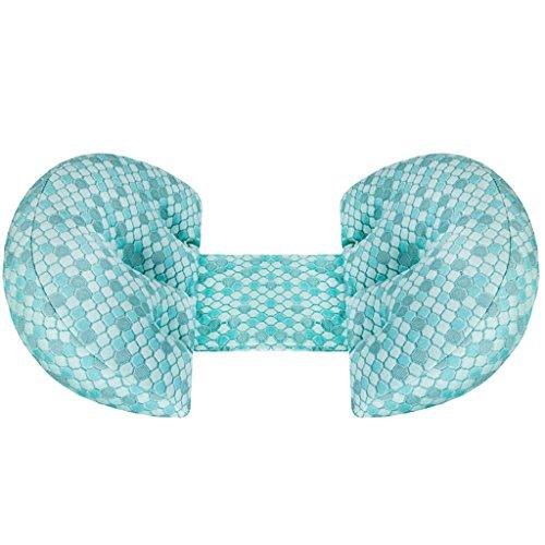 Oreillers de femmes enceintes, oreiller lombaire, Oreillers de maintien en forme de U, Oreillers de soutien abdominale multifonctionnel, fournitures de couchage, Coussins de bébé, Oreillers de soins infirmiers, 80 * 37 * 12cm. ( Color : Blue )