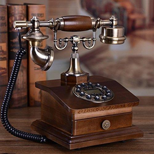 Good thing Téléphone Téléphone Antique Européen Retro Téléphone Bois Massif Téléphone Maison Antique Téléphone Fixe Américain