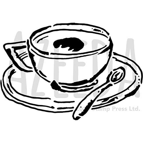 Azeeda A5 'Tasse Kaffee' Wandschablone / Vorlage (WS00027496)