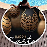 Dogedou Circles Beach Towels Easter Rabbit Beach Tapestry for Swim Comfortable Picnic Blanket with...