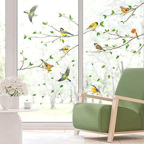 DECOWALL SG-2111 Uccello sul ramo di un albero Adesivi murali per bambini Decalcomanie Rimovibili...