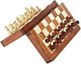 The Ng Wood-Like Magnetic Educational Toys Travel Chess Set with Folding Board Easy-Carry for Kids and Adults