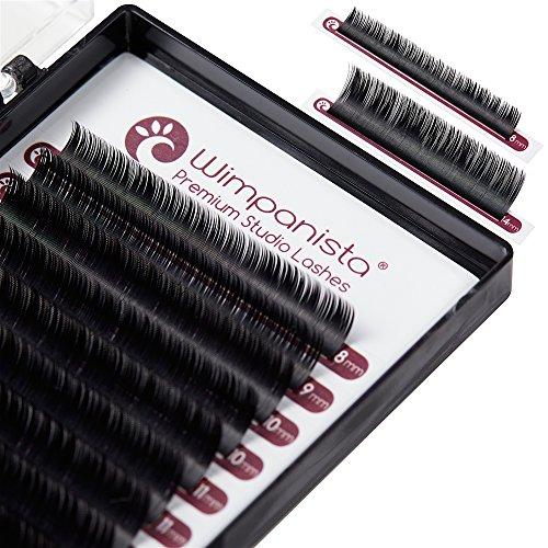 Seidenwimpern - Einzelwimpern - C Curl - Silk Lashes - Stärke 0.15mm - Mix 8-14mm Wimpernverlängerung - 16 Streifen - Wimpanista