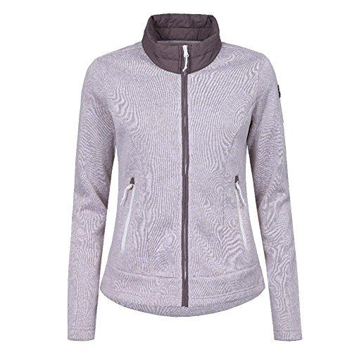 Icepeak Lilja Fleecejacke Strickjacke für Damen, Farbe:Hellbraun;Bitte Größe wählen:48