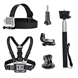 <span class='highlight'><span class='highlight'>TEKCAM</span></span> Action Camera Accessories Bundle Kit Head Strap Mount Chest Harness Selfie Stick Monopod Compatible with Gopro Hero 8 7 6 5/AKASO EK7000/APEMAN/Crosstour/Camaprk Waterproof Sport Action Camera
