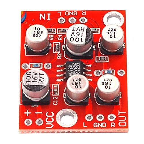 HDHUA wijzigingsaccessoires AD828 op amp voorversterker board audio één voedingsmodule Amplizeren