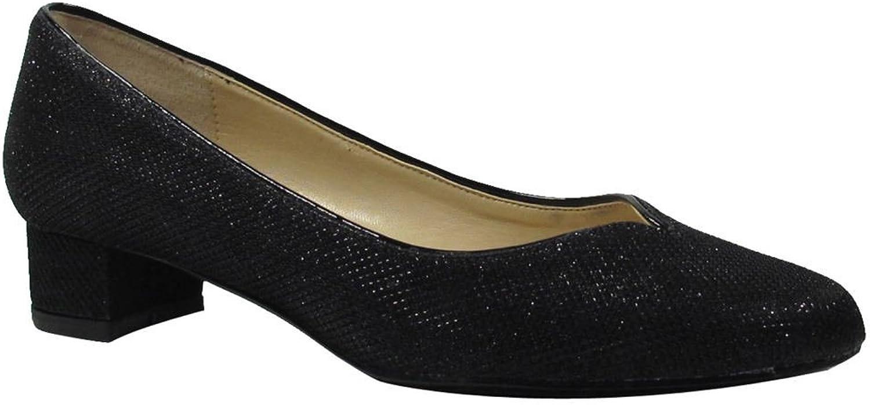 J. Renee Women's Bambalina Pump Black Fabric Size 10 M