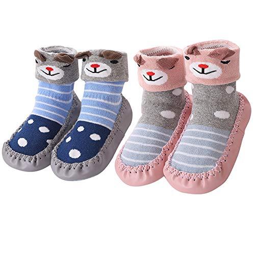 Hoylson Unisex-Baby Socken Hüttenschuh Babyschuhe Krabbelschuhe Kleinkind Lauflernschuhe Mit Anti-Rutschsohle für Jungen und Mädchen 0-24 Monate (S: 10-18 Monate, style-10)