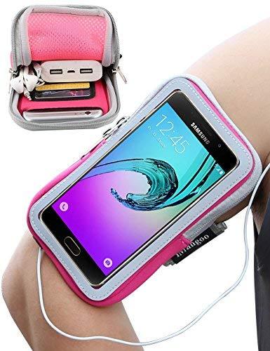iMangoo Galaxy A5 Armband, Sport Armband mit Schlüsselhalter Extension Strap Protection Handgelenk Tasche Wallet für Samsung Galaxy A5 2016 J5 J7 rosa