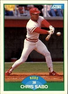 1989 Score Baseball Rookie Card #104 Chris Sabo