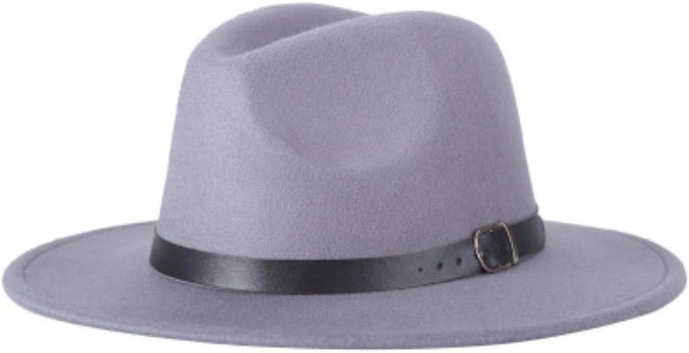 DDTT M/änner Fedoras Damenmode Jazz Hut Sommer Fr/ühling Schwarz Wollmischung Kappe Outdoor Casual Hut X XL