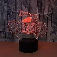 子供のためのナイトライト3DイリュージョンランプムードランプLed 16色変更ランプ点滅タッチスイッチ寝室の装飾照明クリスマスギフト