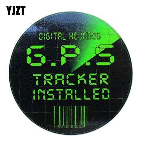 OLUYNG Sticker de Carro 13cm * 13cm Car Styling GPS Tracker Seguridad lnterest Reflectante Etiqueta engomada del Coche C1-7591
