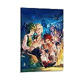 ASDLK My Hero Academy - Póster decorativo para pared, diseño de la Academia de la Cena de la Fiesta de la Cena (50 x 75 cm)