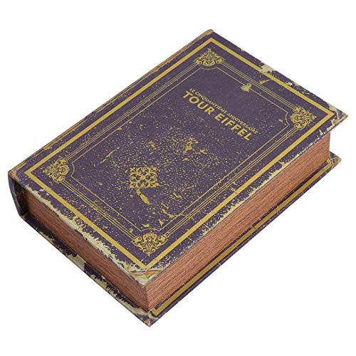 YARNOW Caja de Libro Falsa Decorativa Caja de Almacenamiento de Joyas en Forma de Libro Caja de Libro Hueco de Imitación para Ocultar Dinero Joyas Objetos de Valor (Estilo 1)