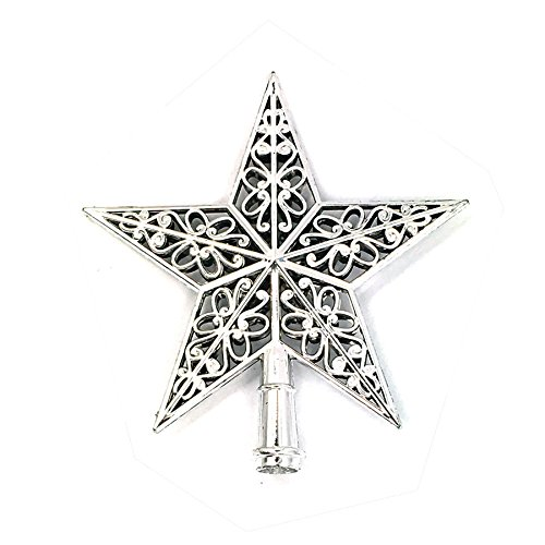 KIZOOM Christmas Tree Top Sparkle Star Hang Glittering Hanging Xmas Tree Topper Decoration Ornaments Home Decor