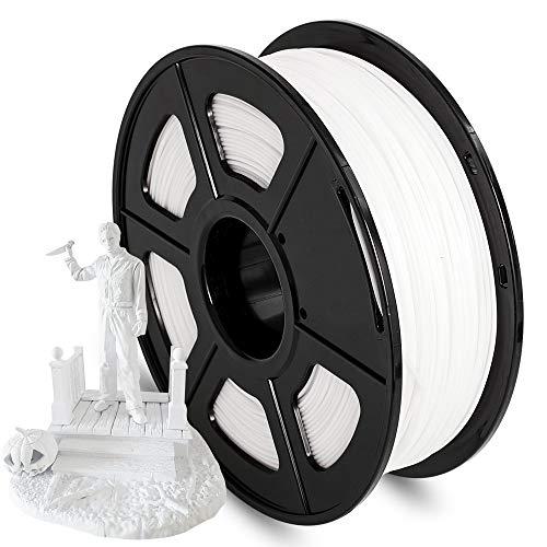 AnKun Pla Filament 1.75mm,White PLA 3D Printing Filament for 3D printer and 3D Pen, Dimensional Accuracy +/- 0.02mm, 1kg 1 Spool