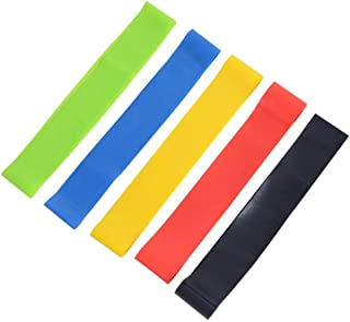 5pcs Training Equipment Resistance Loop Exercise Bands Fitness Bands 5x power body band, workout bands for yoga rehab cros...