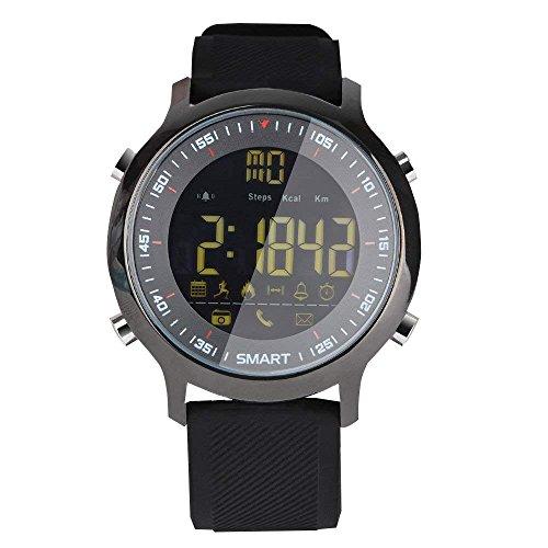 Reloj Deportivo Inteligente EX18 Reloj IP67 50M Llamada Impermeable y Mensajes SMS Recordatorio BT Cámara remota Podómetro para Android iOS