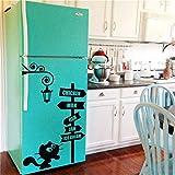 Stickers Muraux Cuisine Petit Chaton Dans La Rue Stickers Chat Vinyle Amovible...