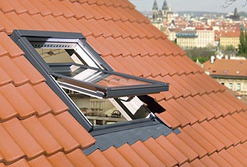 FAKRO Austauschfenster FTP-V U3 aus Holz für Alte Velux- und Roto-Dachfenster 85 x 130