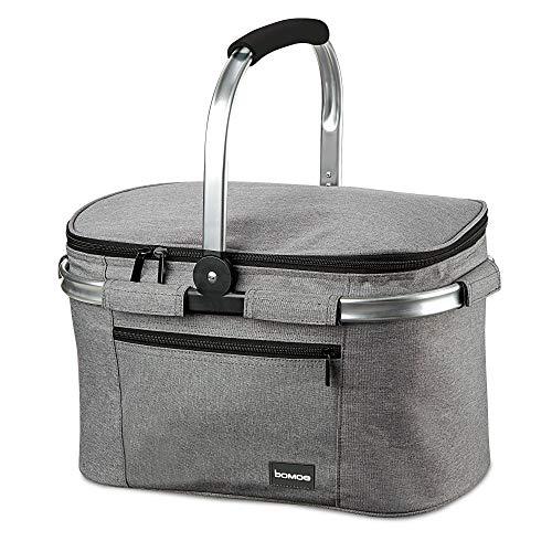 bomoe Kühltasche Picknickkorb faltbar IceBreezer K37 - Outdoor Kühlbox für unterwegs - 37,5x25x23,5 cm - 22 Liter - Auch als Picknicktasche nutzbar - Perfekt fürs Grillen oder Festival