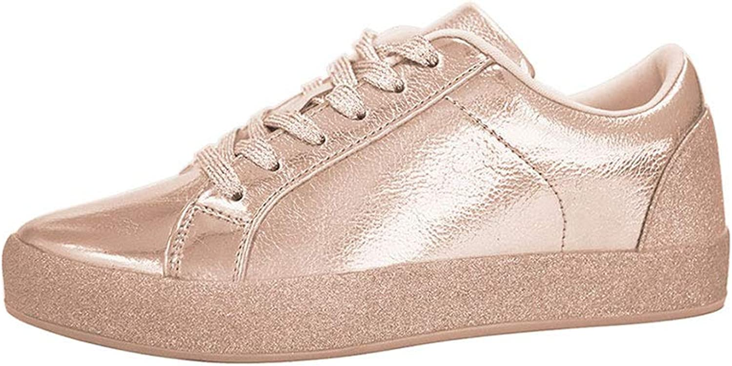 Lucky Step Glitter Sneakers Lace up   Fashion Sneakers   Sparkly shoes for Women