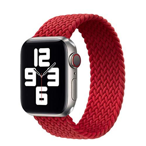 Correa de bucle individual trenzada de nailon elástico para Apple Watch Band 6 Se 5 3 bandas 44Mm 40Mm Correa de cinturón Pulsera para Iwatch Series 6 5 4 2