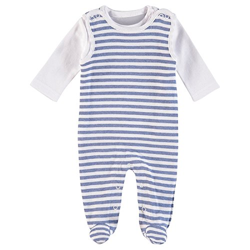 Feetje Feetje Unisex - Baby Stramplerset 525052 bluemelee (980) Gr.68