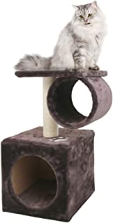CUPETS Cat Tree 23 Inches Brown Cat Condo cat Climbers,Pet Products with Sisal Scratching Post and Nest for Cats and Kittens