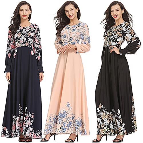 Musulmans Femmes, Robe Musulmane Femme Robe Longue Arabe Style Palais Musulmane Robe de Mariée Prière Caftan Kaftan Jalabiya Vêtements Islam Longue Jupe Robe de Soirée Partie élégante Abaya Cadeau
