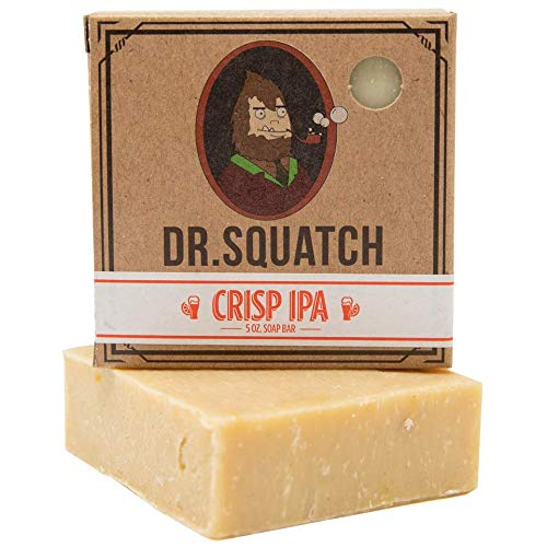 Dr. Squatch Beer Soap Bar – Grapefruit IPA Men's Bar Soap with Beer and Distilled Hops – Soap...
