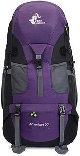 LIUM store Mochila, Mochila de Senderismo, 56 * 36 * 23cm, Mochila de montañismo para Hombres Mujeres Deporte al Aire Libre-púrpura
