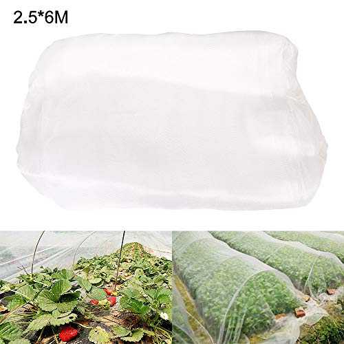Filet Anti-Insectes Maille Fine 1.3mm,Filet Jardin Potager Légumes,Plantes Fruits pour Serre Plantes Fruits Fleurs Cultures (2.5 * 6m)