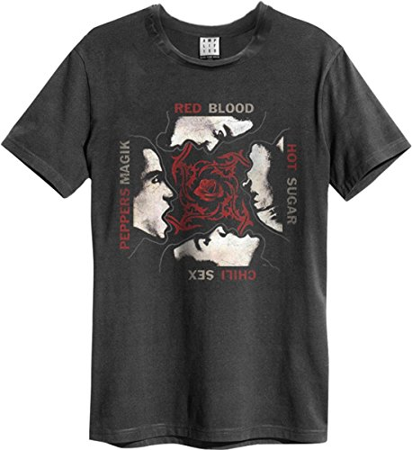 Amplified - Red Hot Chilli Pepers Rock Band Heren T-Shirt - Logo (grijs) (S-XL)