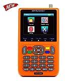 KKmoon V9 Digital Satellite Finder Digital Satellite Signal Finder Meter SAT-Finder con Display LCD da 3,5 pollici,Lingua OSD,Automatica PAL/NTSC(Arancione)