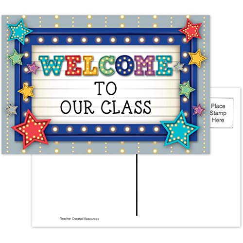 Teacher Created Resources Marquee Welcome Postcards, Multi, Model:5486