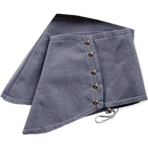 shoperama Polainas para disfraz de gánster de los años 20, en varios colores, Mafiosi Mafioso, color gris