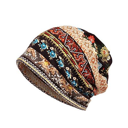 Dwevkeful Turbantes para Mujer Cancer,Pañuelo Impresión Bohemia Bufa