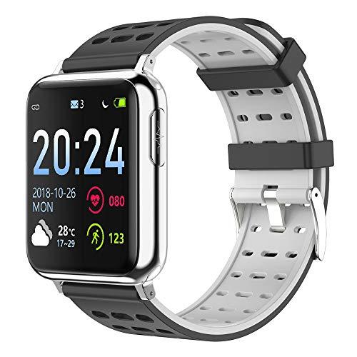 Rastreador de ejercicios, pulsera inteligente seguimiento de actividad con las calorías del ritmo cardíaco del sueño Seguir el podómetro cronómetro saltos antagonistas impermeable llamada SMS SNS,2