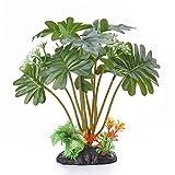 xueren Planta artificial para tanque de peces, helecho, hierba de agua artificial, pecera, visión, para decoración de acuario