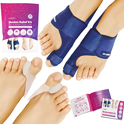 JFA Medical Bunion Corrector, Bunion Splint Toe Separators, Pain Relief & Protection, Adjustable Size, Day, Night Support