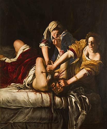 "Artemisia Gentileschi Judith Beheading Holofernes Uffizi 1620 Galleria Degli Uffizi 24"" x 20"" Fine Art Giclee Canvas Print (Unframed) Reproduction"