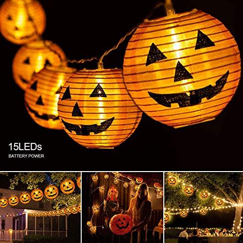 Pumpkin Lights Halloween String light- 10ft 15 LEDs Halloween lights...
