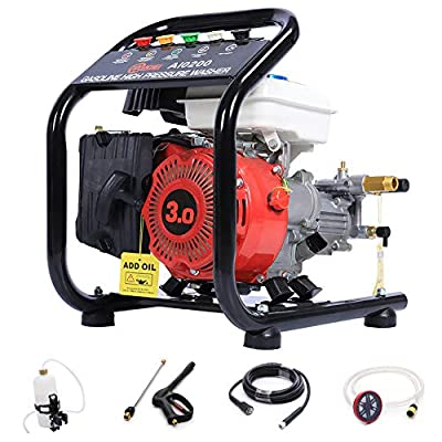 DKIEI High Pressure Petorl Washer High Pressure Jet Washer 1300PSI/90bar, 3.0HP Petrol Power Washer by DKIEI