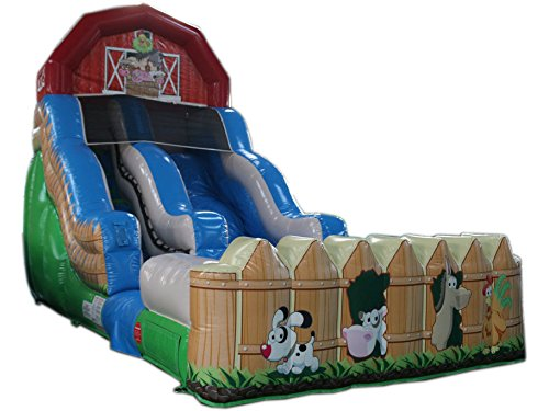 Amazing Deal Commercial Grade 18 High Farm Water Slide Bounce House Inflatable