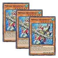 【 3枚セット 】遊戯王 英語版 SHVA-EN037 Mermail Abyssmegalo 水精鱗-メガロアビス (スーパーレア) 1st Edition