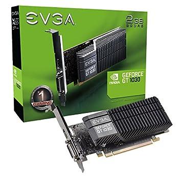 EVGA GeForce GT 1030 SC 2GB GDDR5 Passive Low Profile Graphics Card 02G-P4-6332-KR